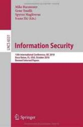 Information Security: 13th International Conference
