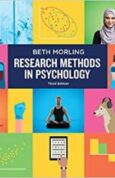 Research Methods in Psycholog Evaluating a World of Information (Third Edition)