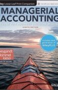 Managerial Accounting Tools for Business Decision Making, 8e